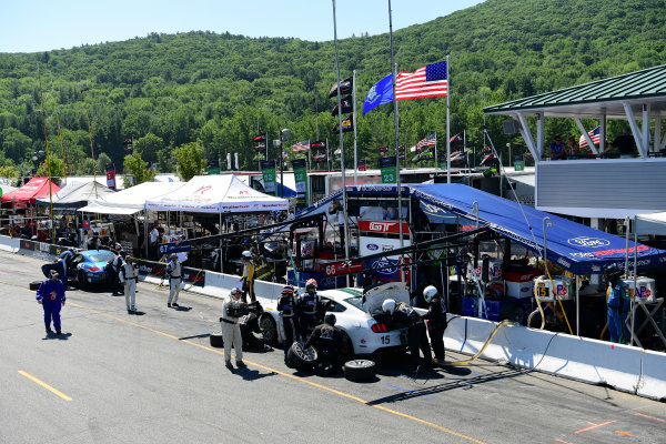 22-23 July, 2016, Lakeville, Connecticut USA 15, Ford, Shelby GT350R-C, GS, Scott Maxwell, Billy Johnson Pit Stop ?2016, Richard Dole LAT Photo USA