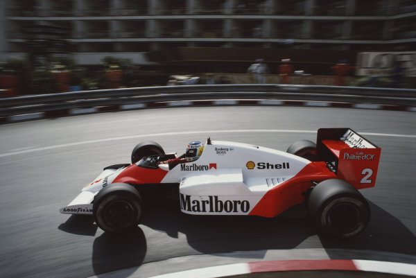 Keke Rosberg, McLaren MP4-2C TAG, during practice.