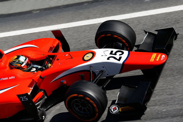 2016 GP2 Series Test 1. Circuit de Catalunya, Barcelona, Spain. Friday 11 March 2016. Nabil Jeffri (MAS, Arden International)  World Copyright: Sam Bloxham/LAT Photographic. ref: Digital Image _R6T9148