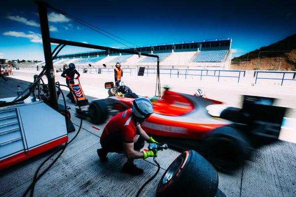 2016 GP2 Series Testing. Jerez, Spain. Thursday 31 March 2016 Jimmy Eriksson (SWE) Arden International  World Copyright: Malcolm Griffiths/LAT Photographic. ref: Digital Image F80P9322