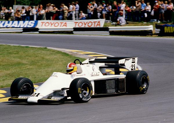1984 British Grand Prix.Brands Hatch, England.20-22 July 1984.Huub Rothengatter (Spirit 101 Hart).Ref-84 GB 47.World Copyright - LAT Photographic