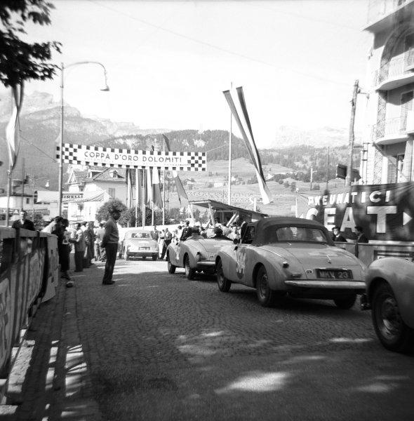1954 Alpine Rally.July 1954.Sunbeam Talbot Alpine. Peter Collins , Mr. Garrad.Car No: 504REG No: MKV 23Retired with broken rear axle on Stelvio pass.World Copyright:LAT Photographic.Ref:K542 D
