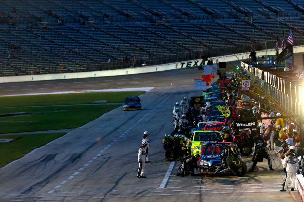 6-7 June, 2013, Fort Worth, Texas USA Johnny Sauter pit stop ©2013, Lesley Ann Miller LAT Photo USA
