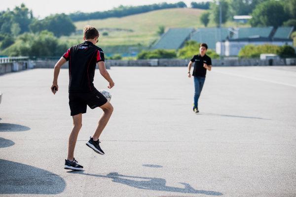 2017 GP3 Series Test 4.  Hungaroring, Budapest, Hungary. Tuesday 6 June 2017. George Russell (GBR, ART Grand Prix)  Photo: Zak Mauger/GP3 Series Media Service. ref: Digital Image _54I2074