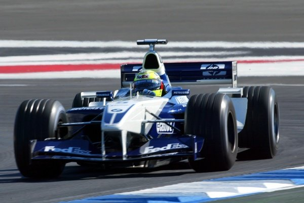 Ralf Schumacher (GER) Williams BMW FW24.German Grand Prix, Hockenheim, Germany, 28 July 2002.DIGITAL IMAGE