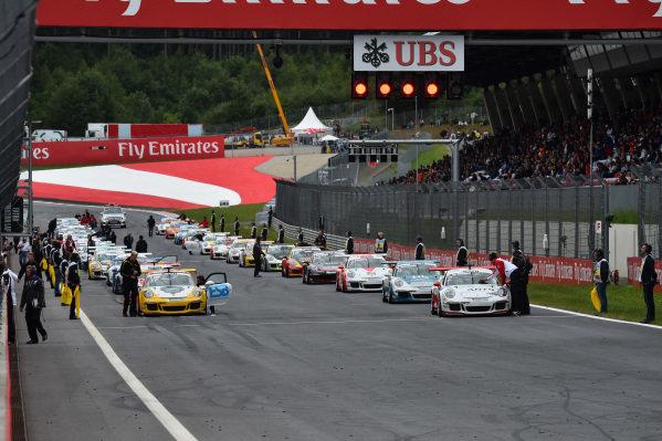 Grid at Porsche Supercup, Rd3, Spielberg, Austria, 19-21 June 2015.