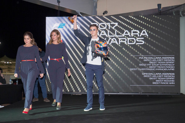 2017 Awards Evening. Yas Marina Circuit, Abu Dhabi, United Arab Emirates. Sunday 26 November 2017. Artem Markelov (RUS, RUSSIAN TIME).  Photo: Zak Mauger/FIA Formula 2/GP3 Series. ref: Digital Image _X0W0203