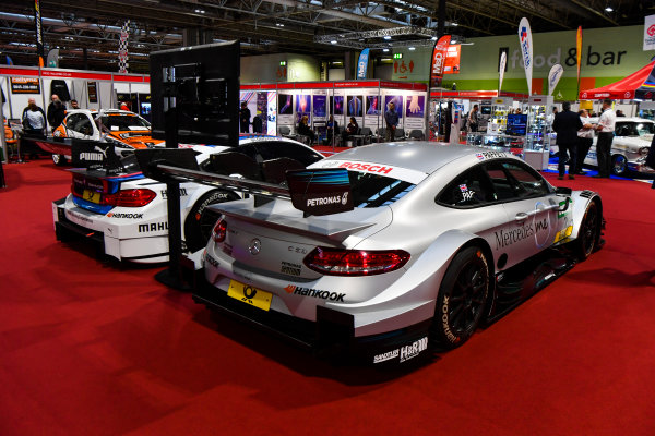 Autosport International Exhibition. National Exhibition Centre, Birmingham, UK. Friday 12th January 2018. McLaren and BMW DTM cars on display.World Copyright: Mark Sutton/Sutton Images/LAT Images Ref: DSC_7965
