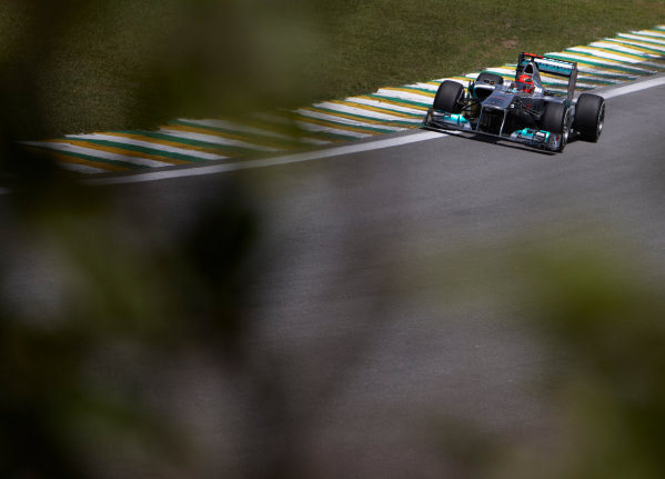 Interlagos, Sao Paulo, Brazil. 25th November 2011. Michael Schumacher, Mercedes GP W02. Action.  World Copyright: Steve Etherington/LAT Photographic ref: Digital Image SNE24644