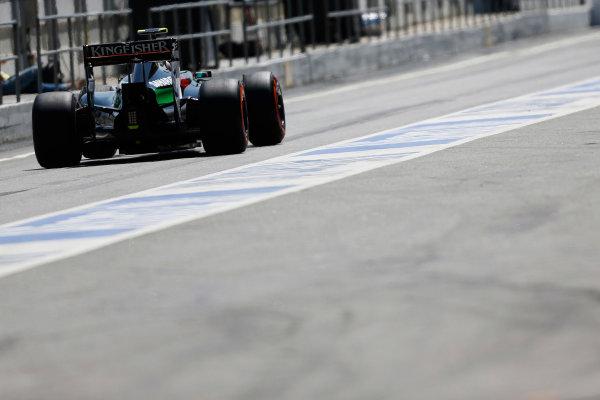 Circuit de Catalunya, Barcelona, Spain. Wednesday 14 May 2014. Daniel Juncadella, Force India VJM07 Mercedes. World Copyright: Sam Bloxham/LAT Photographic. ref: Digital Image _SBL0399
