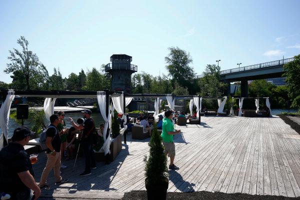 Circuit Gilles Villeneuve, Montreal, Canada. Sunday 11 June 2017. The F1 fan village. World Copyright: Andy Hone/LAT Images ref: Digital Image _ONZ4715