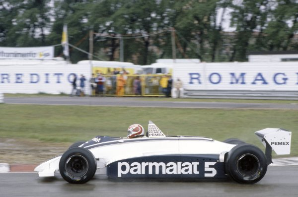 1981 San Marino Grand Prix.Imola, Italy. 1-3 May 1981.Nelson Piquet (Brabham BT49C-Ford Cosworth), 1st position.World Copyright: LAT PhotographicRef: 35mm transparency 81SM10