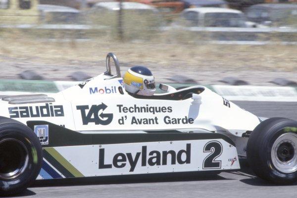 1981 Spanish Grand Prix.Jarama, Spain. 19-21 June 1981.Carlos Reutemann (Williams FW07C-Ford Cosworth), 4th position.World Copyright: LAT PhotographicRef: 35mm transparency 81ESP24