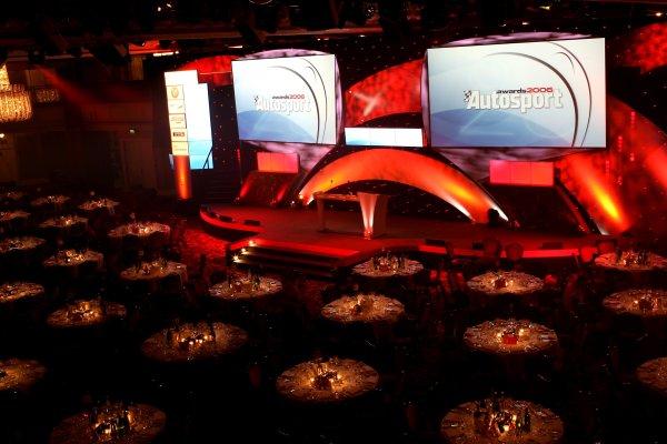 2006 Autosport AwardsGrosvenor House Hotel, London. 3rd December 2006.The Great Hall is set.World Copyright: Peter Spinney/LAT Photographicref: Digital Image RK4O2536