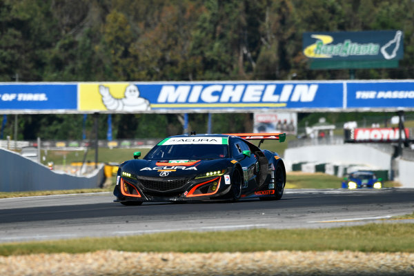 IMSA WeatherTech SportsCar Championship Motul Petit Le Mans Road Atlanta, Braselton GA Thursday 5 October 2017 93, Acura, Acura NSX, GTD, Andy Lally, Katherine Legge, Mark Wilkins World Copyright: Richard Dole LAT Images ref: Digital Image RDPLM042
