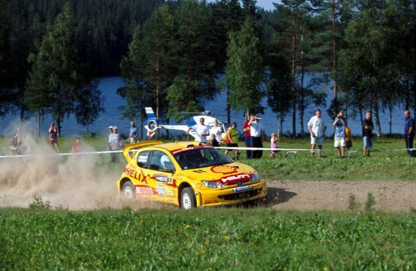 Timo Salonen (FIN) Peugeot 206 WRC.FIA World Rally Championship, Rd9, Neste Rally Finland, Finland. 8-11 August 2002.BEST IMAGE