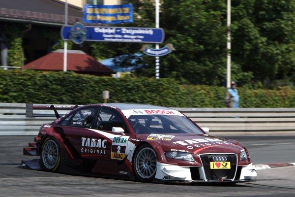 Oliver Jarvis (GBR), Audi Sport Team Abt, Tabac Original Audi A4 DTM (2009).DTM, Rd4, Norisring, Nuremberg, Germany. 2-4 July 2010 World Copyright: LAT PhotographicRef: Digital Image dne1003jy79