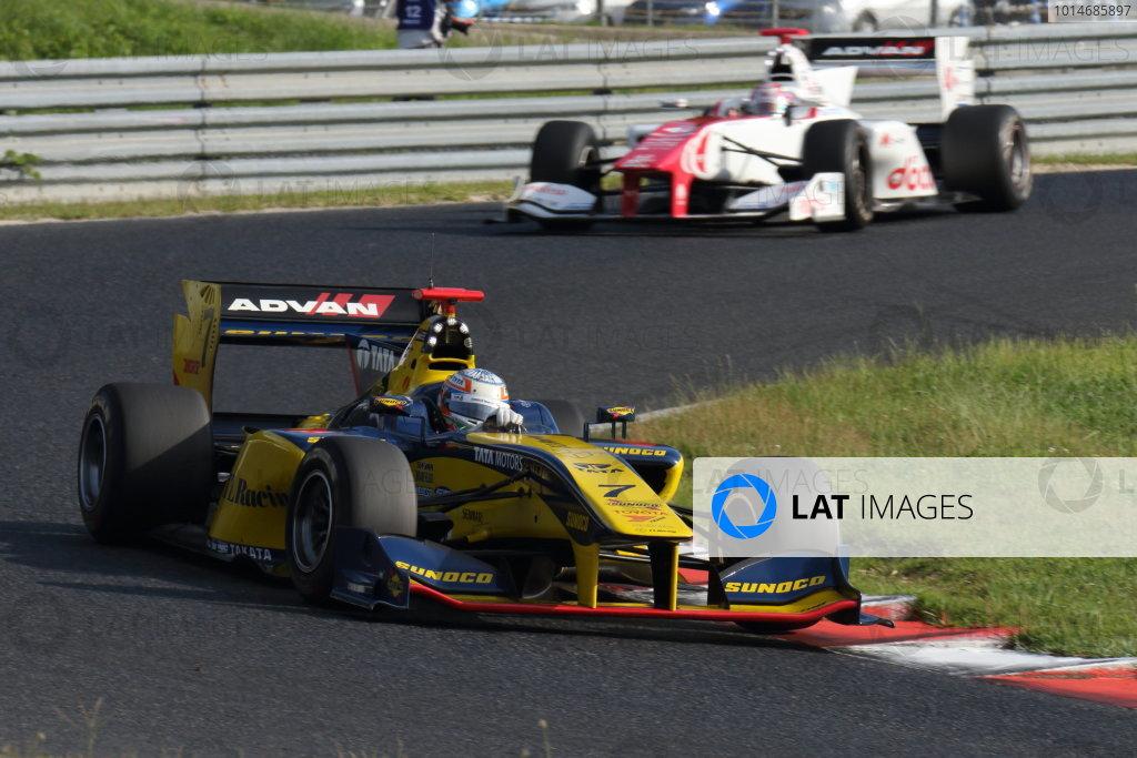 2016 Japanese Super Formula. Okayama, Japan.  Saturday 10 September 2016. Rd 5. Race1 3rd position Narain Karthikeyan ( #7 SUNOCO TEAM LEMANS SF14 ) action World Copyright: Yasushi Ishihara/LAT Photographic Ref : 2016SF_Rd5_R1_018