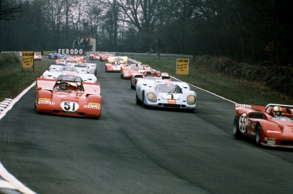 1971 BOAC 1000 kms.Brands Hatch, England. 4th April 1971.Start of the race, action.World Copyright - LAT Photographic
