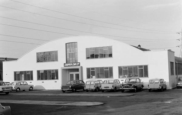 The Cooper Car Factory in 1967