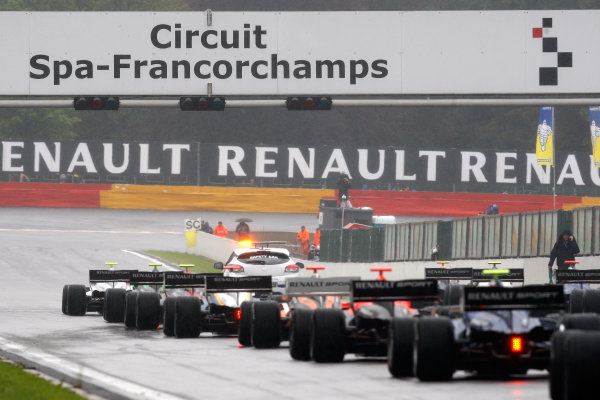 FRANCORCHAMPS (BEL) JUNE 01-03 2012 - World Series by Renault at Cuircuit de Spa Francorchamps. Code red during race 2. Action. © 2012 RONALD FLEURBAAIJ / DUTCH PHOTO AGENCY / LAT PHOTOGRAPHIC