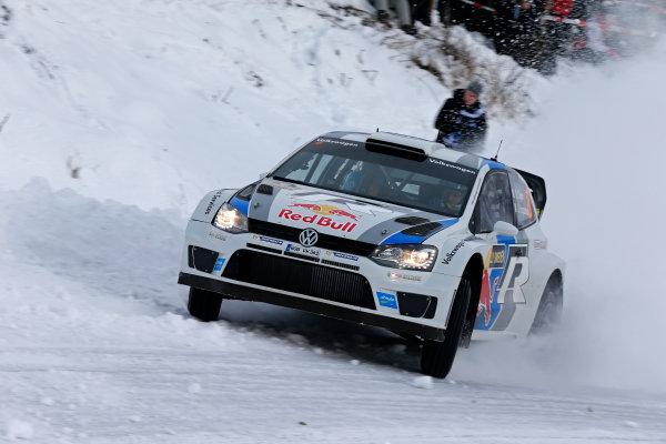 2013 FIA World Rally Championship Round 02-Rally Sweden 07-10 Februari 2013. Sebastien Ogier, VW WRC, Action.. Worldwide Copyright: McKlein/LAT