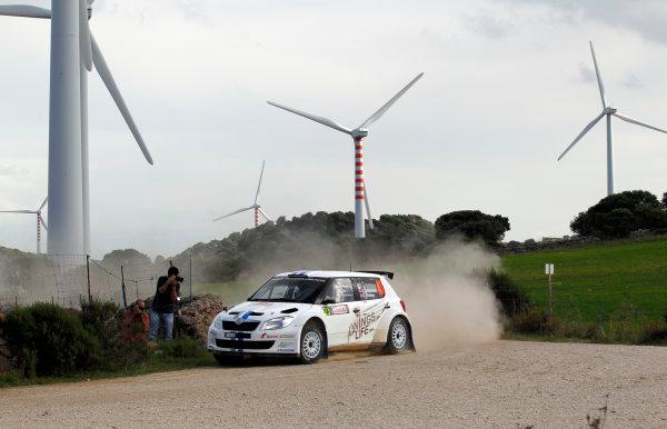 Round 12, Rally d'Italia Sardinia 201218th - 21st October 2012Andrea Mikkelsen, Skoda, actionWorldwide Copyright: McKlein/LAT