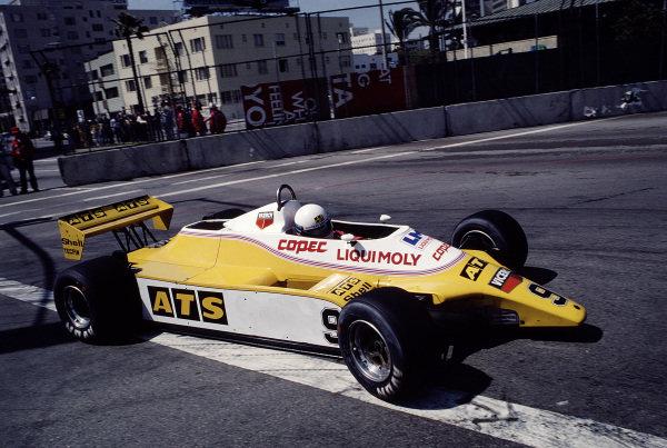1982 United States Grand Prix West.Long Beach, California, USA.2-4 April 1982.Manfred Winkelhock (ATS D5 Ford).Ref-82 LB 50.World Copyright - LAT Photographic