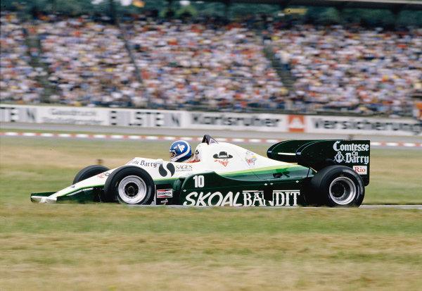 1984 German Grand Prix.Hockenheim, Germany.3-5 August 1984.Jonathan Palmer (Ram 02 Hart).Ref-84 GER 23.World Copyright - LAT Photographic