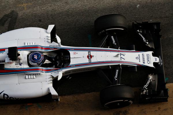 Circuit de Catalunya, Barcelona, Spain Monday 22 February 2016. Valtteri Bottas, Williams FW38 Mercedes, in the pit lane. World Copyright: Sam Bloxham/LAT Photographic ref: Digital Image _SBL4976