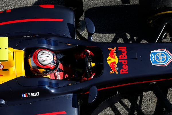 2016 GP2 Series Test 1. Circuit de Catalunya, Barcelona, Spain. Friday 11 March 2016. Pierre Gasly (FRA, PREMA, Racing)  World Copyright: Sam Bloxham/LAT Photographic. ref: Digital Image _R6T9239