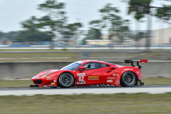 2017 WeatherTech SportsCar Championship - IMSA February Test Sebring International Raceway, Sebring, FL USA Friday 24 February 2017 62, Ferrari, Ferrari 488 GTE, GTLM, Juan Pablo Montoya driving in afternoon practice session. World Copyright: Richard Dole/LAT Images ref: Digital Image RD_2_17_179