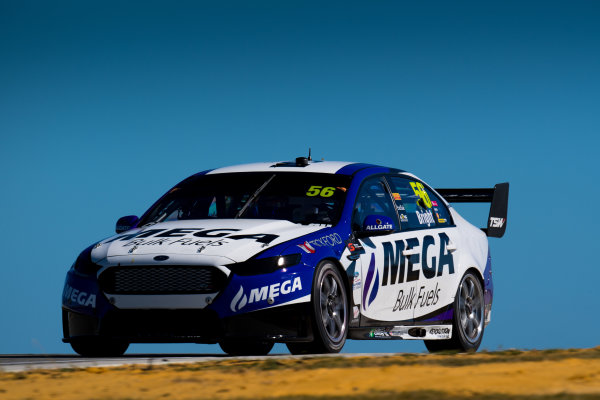 2017 Supercars Championship Round 4.  Perth SuperSprint, Barbagallo Raceway, Western Australia, Australia. Friday May 5th to Sunday May 7th 2017. Jason Bright drives the #56 MEGA Racing Ford Falcon FG-X. World Copyright: Daniel Kalisz/LAT Images Ref: Digital Image 050517_VASCR4_DKIMG_0843.JPG