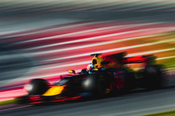 Circuit de Catalunya, Barcelona, Spain. Thursday 9 March 2017. Daniel Ricciardo, Red Bull Racing RB13 TAG Heuer.  World Copyright: Zak Mauger/LAT Images ref: Digital Image _X0W8797