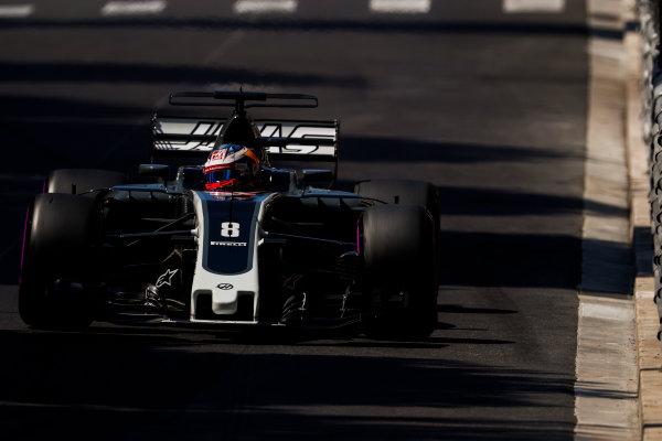 Monte Carlo, Monaco. Saturday 27 May 2017. Romain Grosjean, Haas VF-17. World Copyright: Glenn Dunbar/LAT Images ref: Digital Image _X4I8606