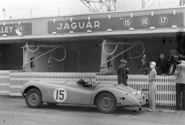 Peter C. Clark / Nick Haines' Jaguar XK-120S.