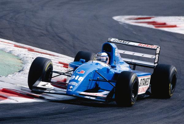 1994 Italian Grand Prix.Monza, Italy. 9-11 September 1994.Olivier Panis (Ligier JS39B Renault) 10th position.Ref-94 ITA 23.World Copyright - LAT Photographic