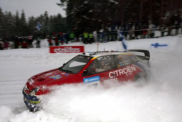 2003 FIA World Rally Championship. Karlstad, Sweden. Rd2.6-9 February 2003.Colin McRae/Derek Ringer (Citroen Xsara) 5th position. World Copyright: McKlein/LAT Photographic