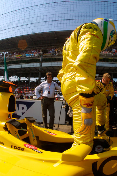 2002 American Grand Prix.Indianapolis, Indiana, USA. 27-29 September 2002.Giancarlo Fisichella (Jordan Honda).World Copyright - LAT Photographicref: Digital File Only