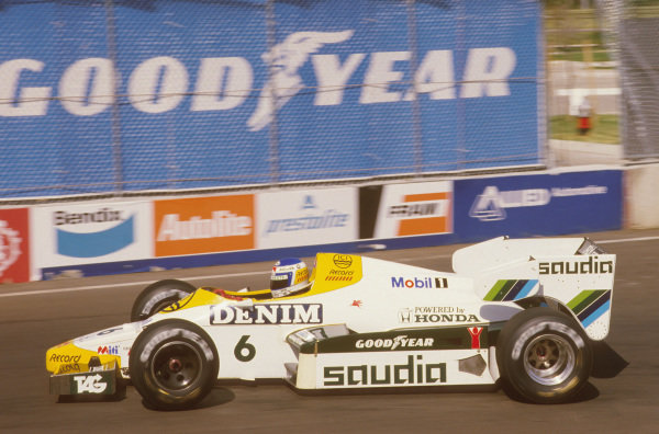 Fair Park, Dallas, Texas, USA.6-8 July 1984.Keke Rosberg (Williams FW09 Honda) 1st position.Ref-84 DAL 03.World Copyright - LAT Photographic