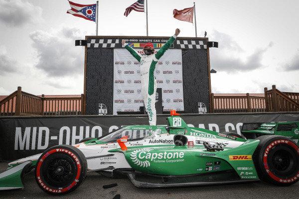 Winner #88: Colton Herta, Andretti Harding Steinbrenner Autosport Honda, podium