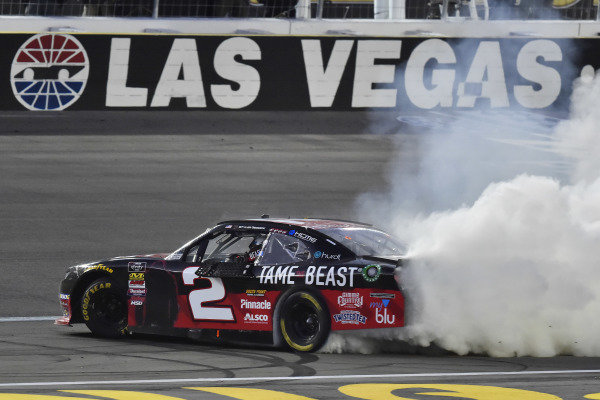 #2: Tyler Reddick, Richard Childress Racing, Chevrolet Camaro TAME the BEAST celebrates his win