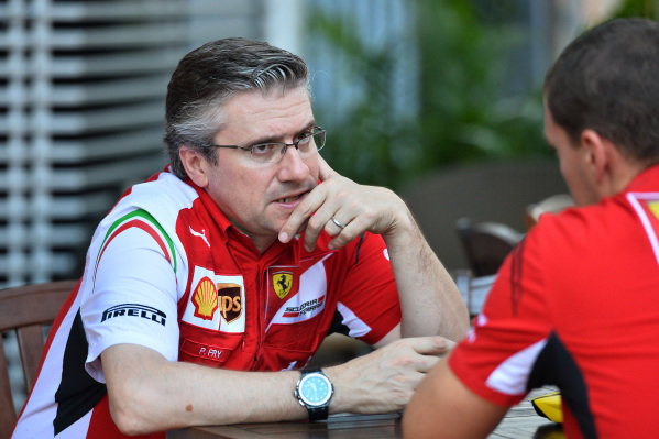Pat Fry (GBR) Ferrari Technical Director. Formula One World Championship, Rd14, Singapore Grand Prix, Marina Bay Street Circuit, Singapore, Practice, Friday 19 September 2014.