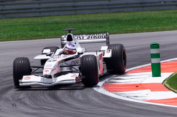 2001 Malaysian Grand Prix.Sepang, Kuala Lumpur, Malaysia. 16-18 March 2001.Olivier Panis (B.A R. 003 Honda).World Copyright - Steve Etherington/LAT Photographic.ref: 18mb Digital Image